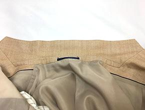 ジャケットの襟のシミ除去