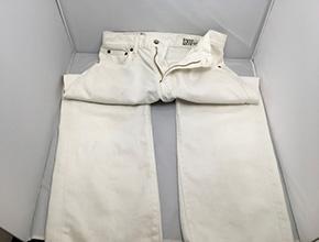 白いズボンのシミ、汚れ除去