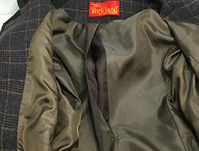 コートの裏地のほつれ修理