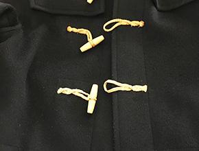 ダッフルコートのボタンループの修理