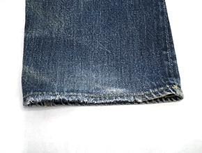 ジーンズの裾ほつれ修理