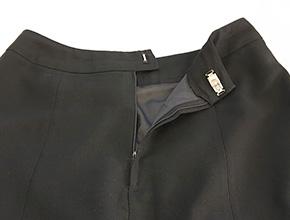 スカートのファスナーのスライダー交換