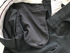 ポケットの穴の修理