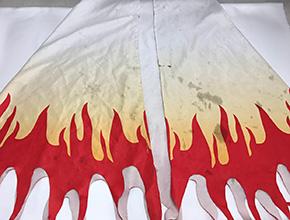 鬼滅の刃コスプレ衣装の汚れ